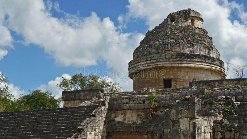 Chichen Itza, Mayan Piramide in Yucatan, Mexico Het ` s één van royalty-vrije stock foto