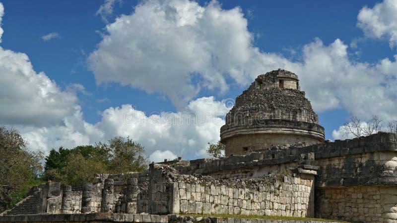 Chichen Itza, Mayan Piramide in Yucatan, Mexico Het ` s één van stock foto