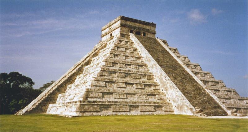 chichen itza Meksyku majską świątynię. obraz royalty free