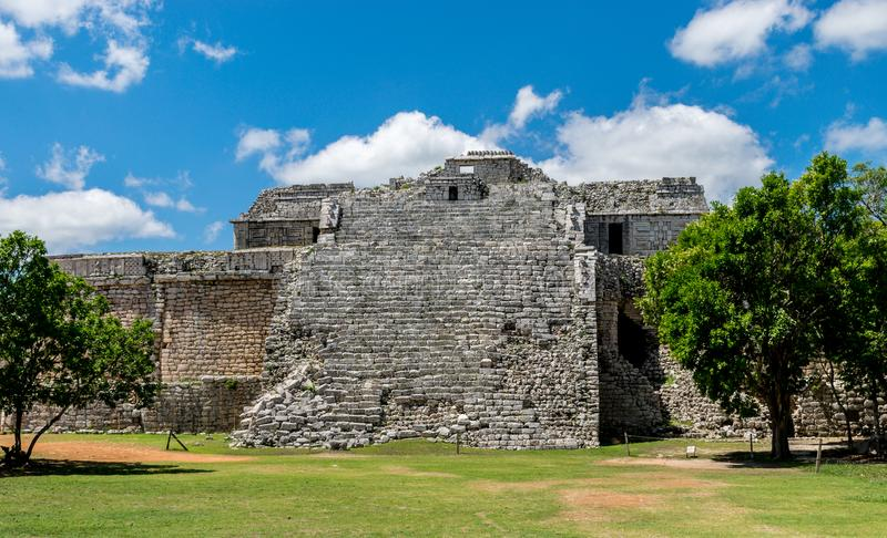 The Church and the Nunnery in Chichen Itza, Mexico royalty free stock images