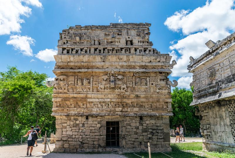 The Church and the Nunnery in Chichen Itza, Mexico royalty free stock photos