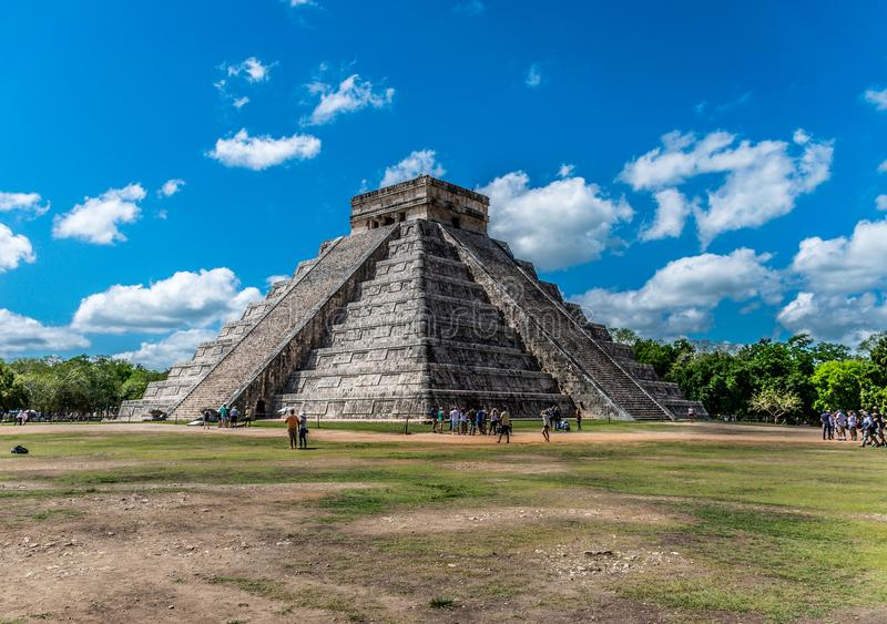 El Castillo in Chichen Itza, Mexico stock image
