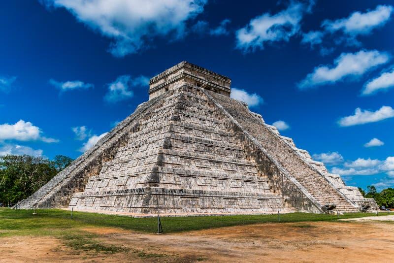 El Castillo in Chichen Itza, Mexico royalty free stock images