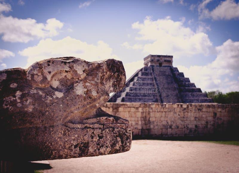 El Castillo in Chichen Itza, Mexico royalty free stock image
