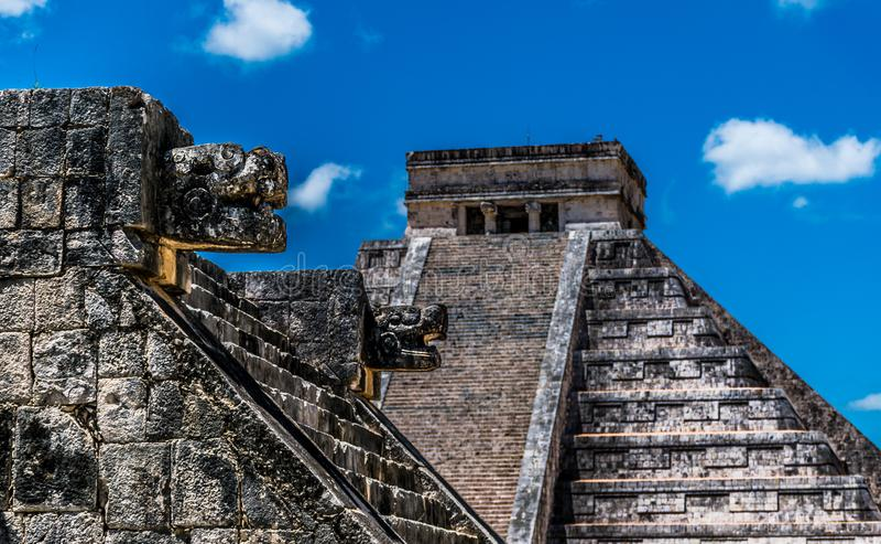 El Castillo in Chichen Itza Mexico royalty free stock photography