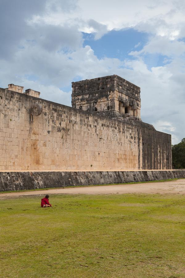 Majestic Mayan ruins in Chichen Itza,Mexico royalty free stock images