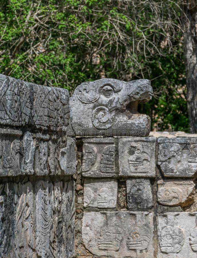 Platform of Eagles in Chichen Itza, Mexico royalty free stock photo