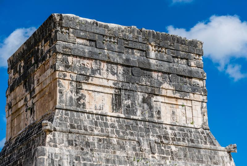 Temple of the Jaguars in Chichen Itza, Mexico stock photo
