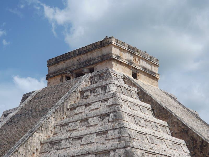 Chichen Itza , Pyramid in Mexico stock photo