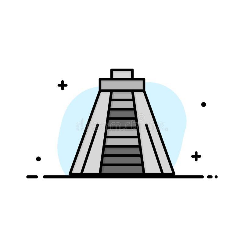 Chichen Itza, point de repère, affaires Logo Template de monument couleur plate illustration stock