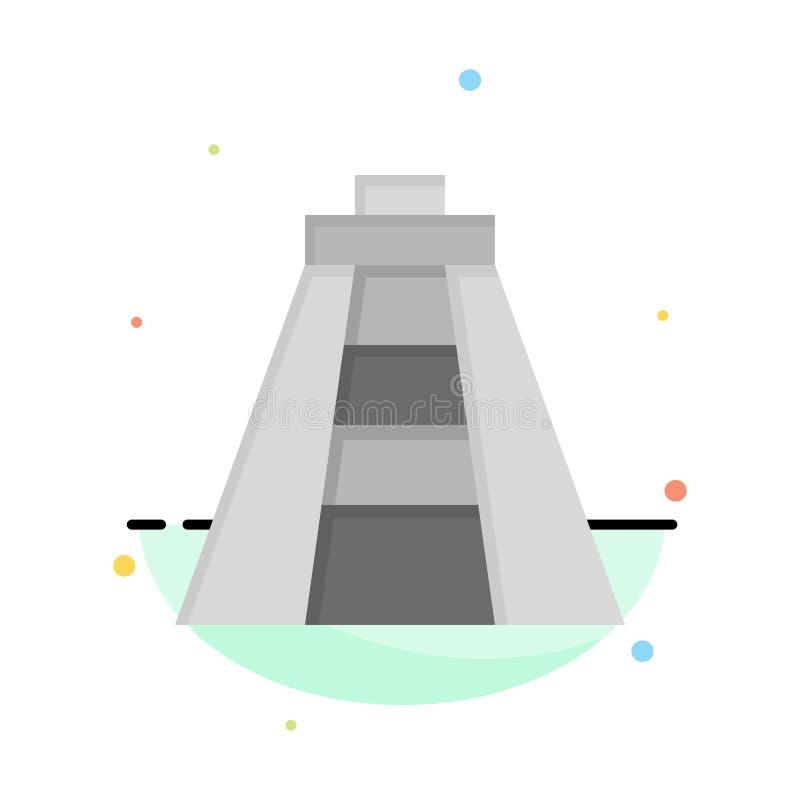 Chichen Itza, point de repère, calibre plat d'icône de couleur d'abrégé sur monument illustration libre de droits