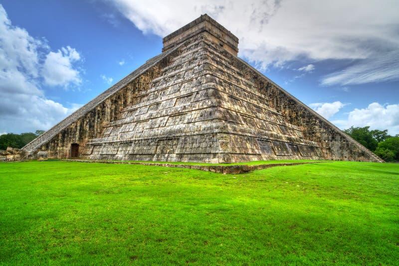 Chichen Itza pyramid in Mexico stock photos