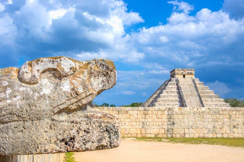 Chichen Itza pyramid, Mexico royalty free stock photos
