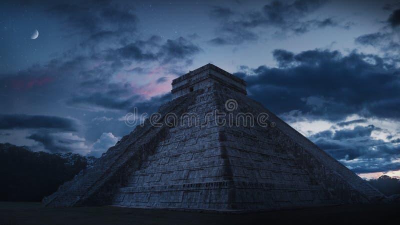 Chichen Itza Pyramide in Mexiko stockbild