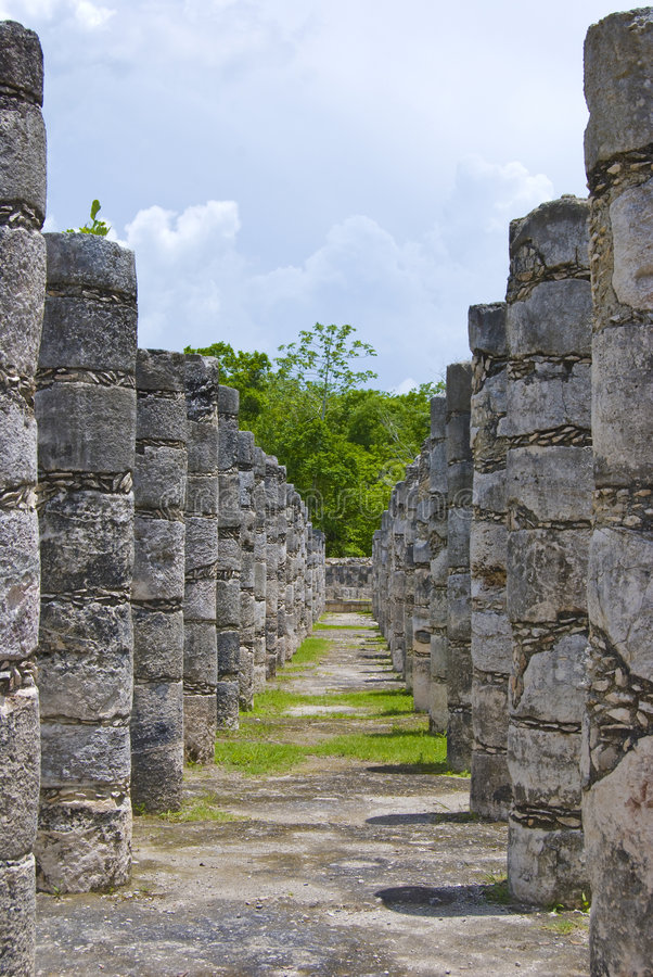 Chichen Itza ruins stock photos