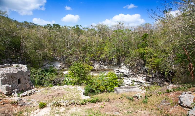 Chichen-Itza. Ruins of the Chichen-Itza, Yucatan, Mexico royalty free stock images
