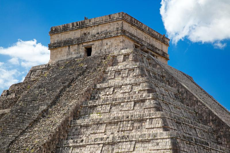 Chichen-Itza. Ruins of the Chichen-Itza, Yucatan, Mexico royalty free stock image