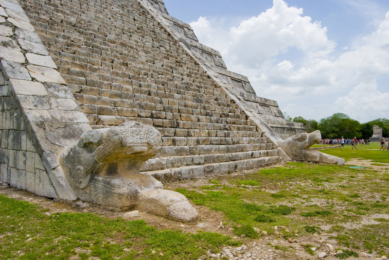 Download Chichen Itza Snakes stock photo. Image of group, indigenous - 5619990