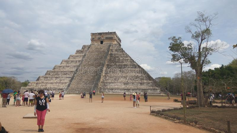 Chichen-itza today stock photo