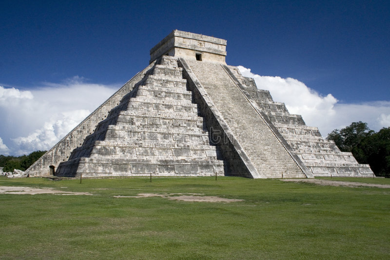 chichen le monde de merveille de pyramide du Mexique d'itza photos stock