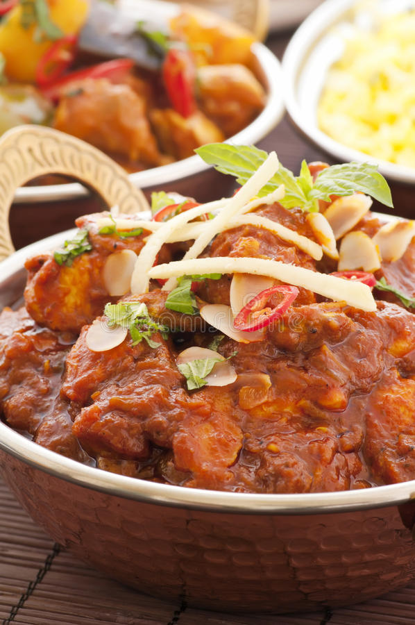 Chichen Masala With Rice Stock Image