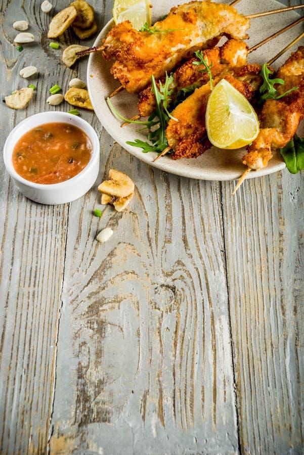 Chiches-kebabs d'Afrique occidentale de poulet photos stock