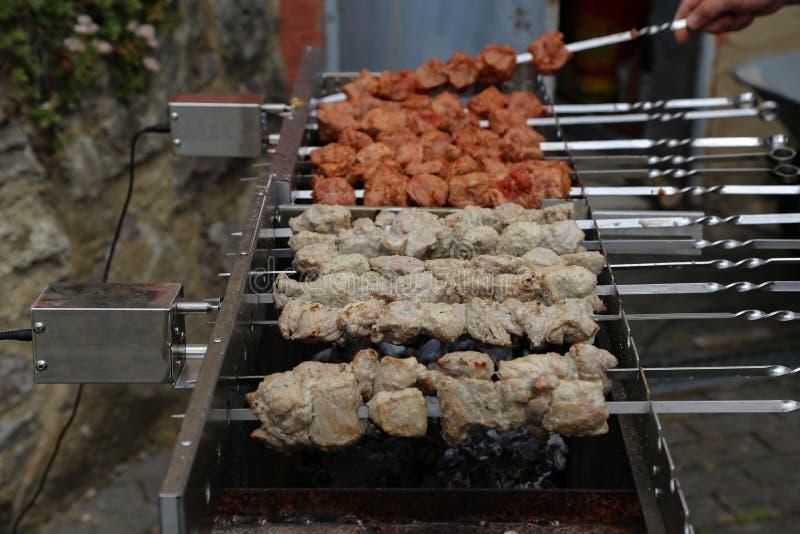 Chiches-kebabs de Shish photo stock