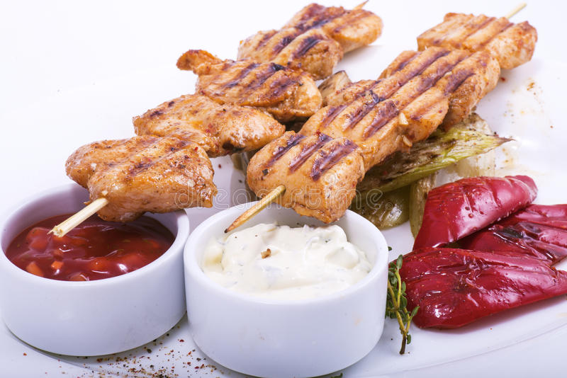 Chiches-kebabs de Shish photographie stock