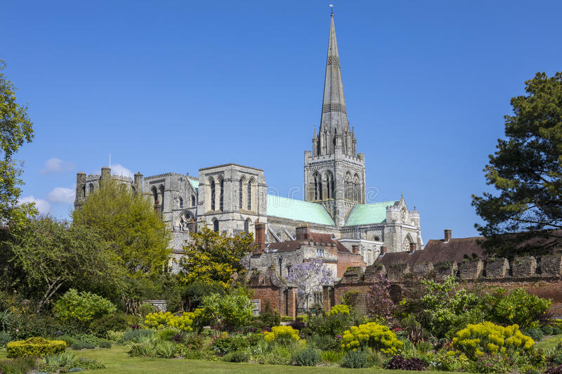 Chichester Cathedral in Sussex stock photo
