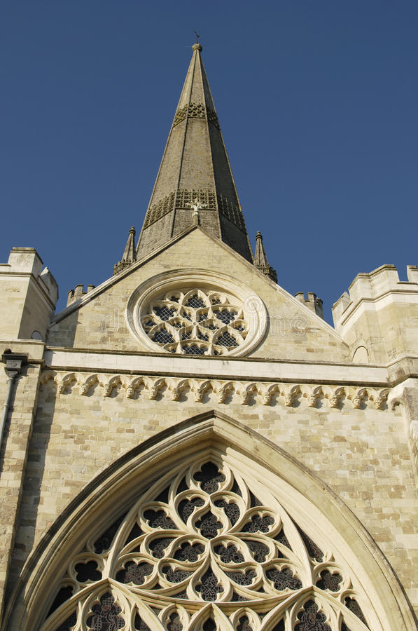 Chichester Cathedral. Sussex. England. Tower and spire of the Cathedral at Chichester. West Sussex. England royalty free stock image