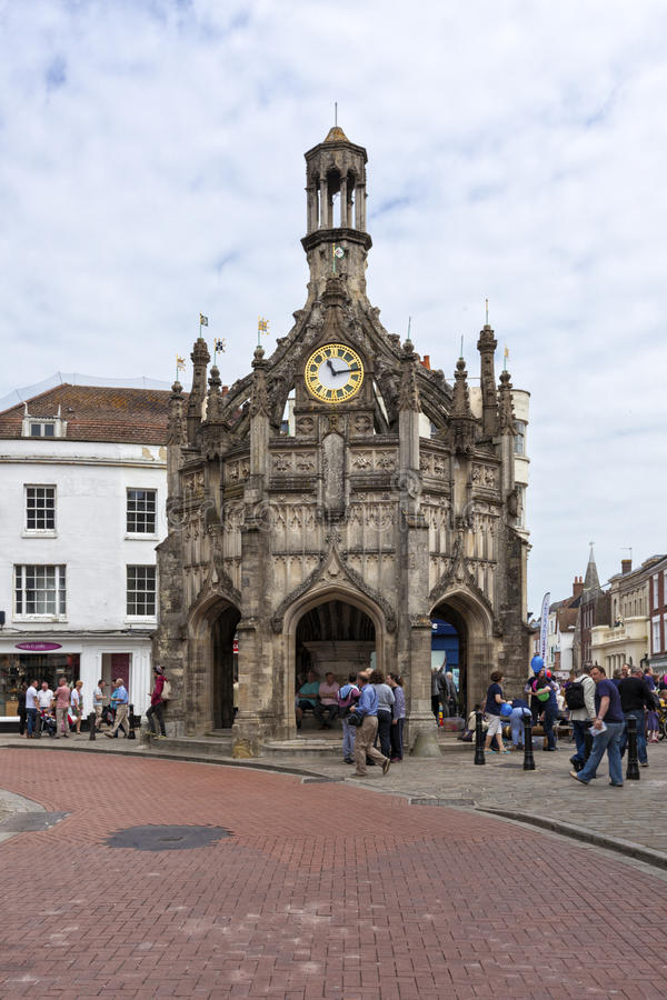 Chichester Cross. Chichester, Great Britain - May 17, 2014: Chichester Cross, a perpendicular market cross in the centre of the city of Chichester, West Sussex royalty free stock images