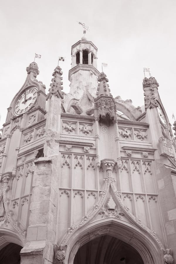 Chichester Cross, UK. In Black and White Sepia Tone royalty free stock photo