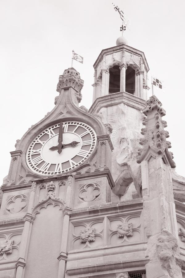 Chichester Cross, UK. In Black and White Sepia Tone royalty free stock photography