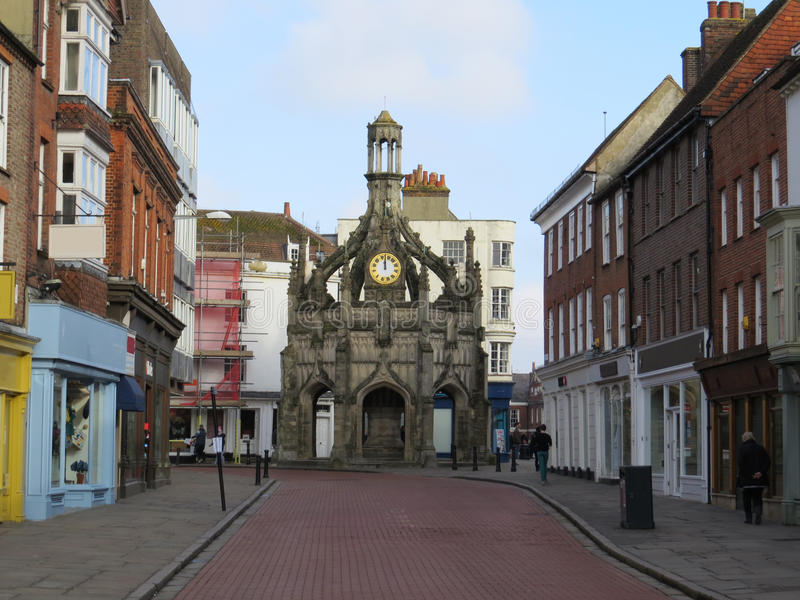 Chichester. Market Cross in the city of Chichester in West Sussex, UK royalty free stock image