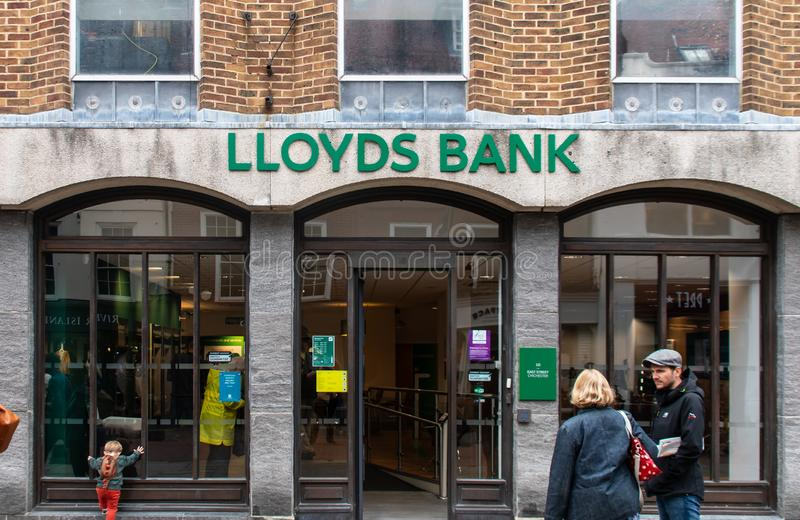 Lloyds Bank frontage royalty free stock photography