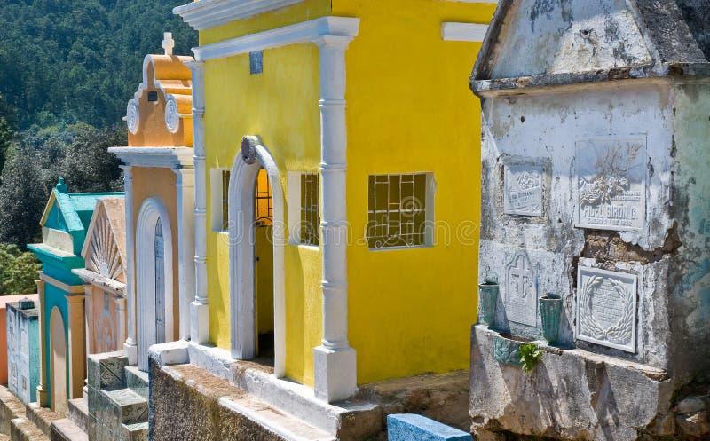 Chichicastenango Kirchhof stockfotografie