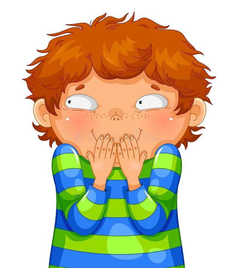 Chichotliwa chłopiec ilustracji