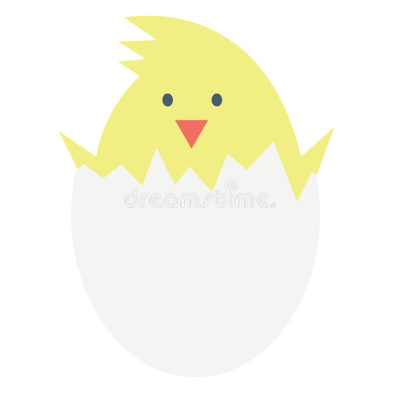 Chick Color Vector icon Easily modify or edit.  royalty free illustration