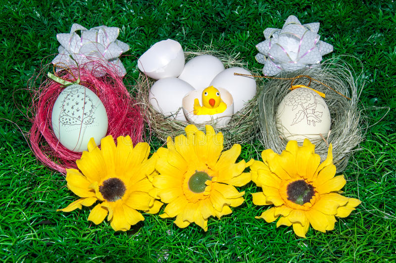 Download Chick and Easter egg .. stock photo. Image of tradition - 39500006