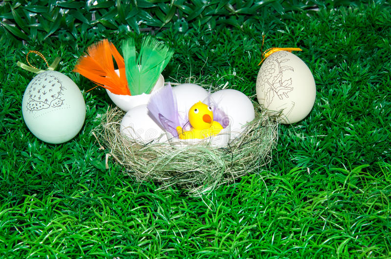 Download Chick and Easter egg .. stock photo. Image of april, symbol - 39500012
