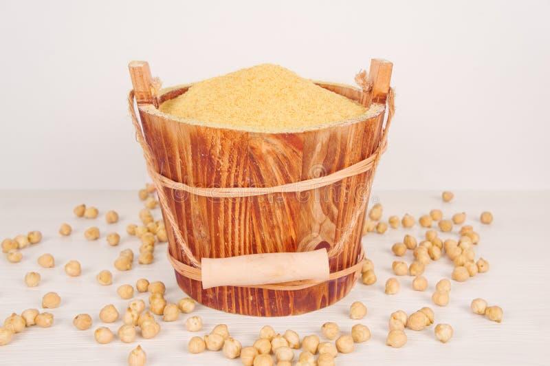 Chick Pea Flour royalty-vrije stock foto
