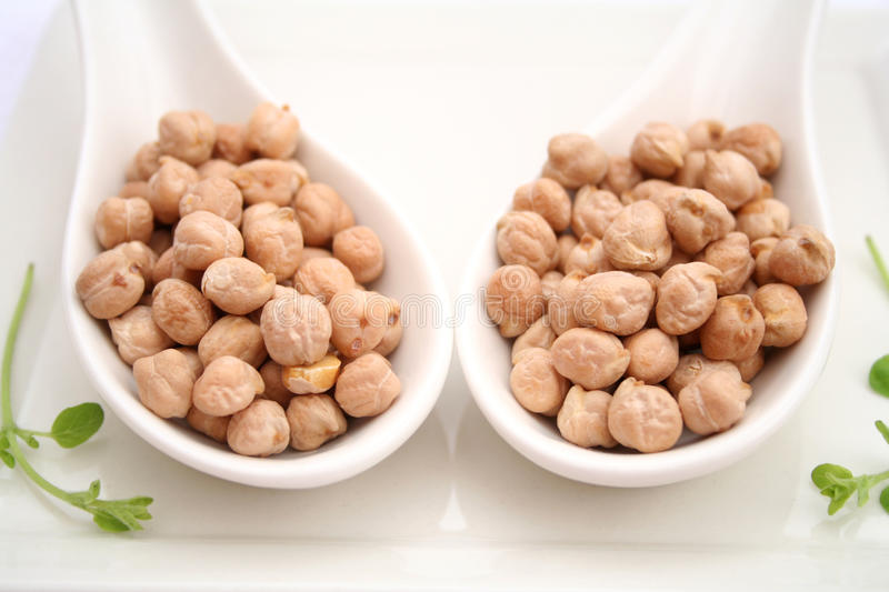 Download Chick peas stock photo. Image of chick, dried, spoon - 37194590
