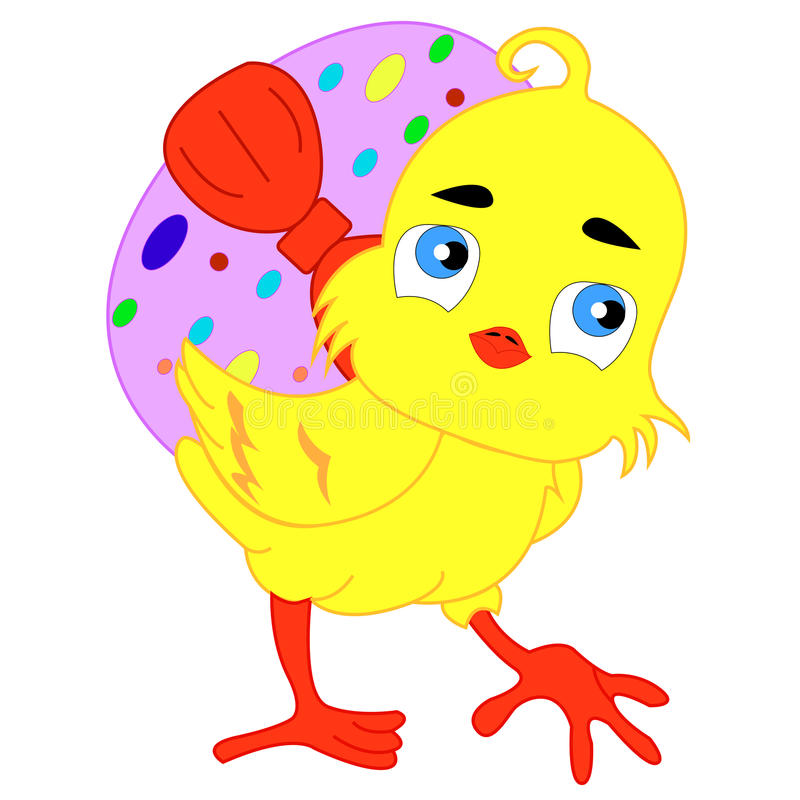 chick Wielkanoc ilustracja wektor