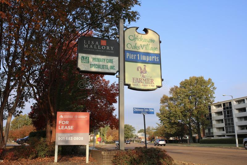 Chickasaw Oaks Village Shopping Center, Memphis, Tennessee. Chickasaw Oaks Village Shopping Center in Memphis, TN anchored by Pier 1 imports, Lisa Mallory and a stock photography