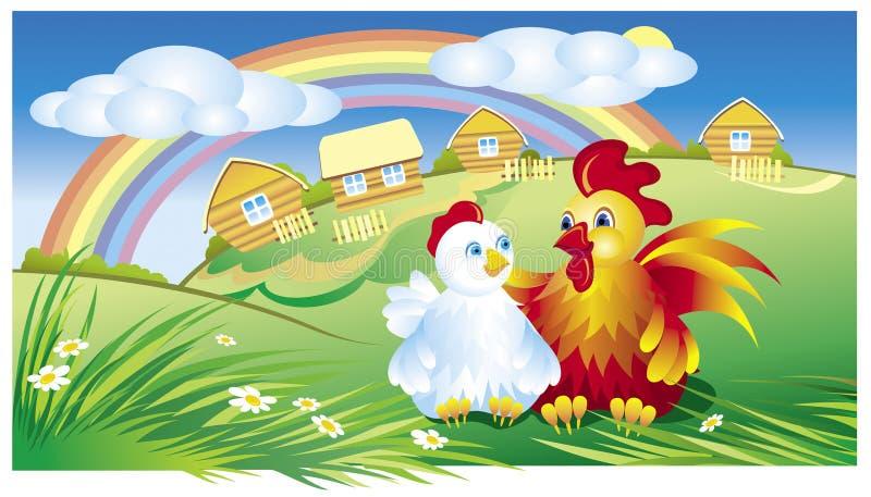 Download Chicken stock vector. Image of illustration, flower, province - 5260407