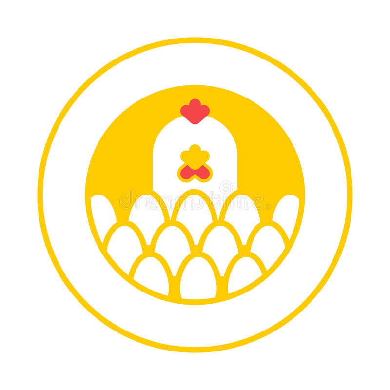 Free Chicken And Egg Logo For Eggs Production. Chicken Farm Emblem. Stock Photo - 90574760