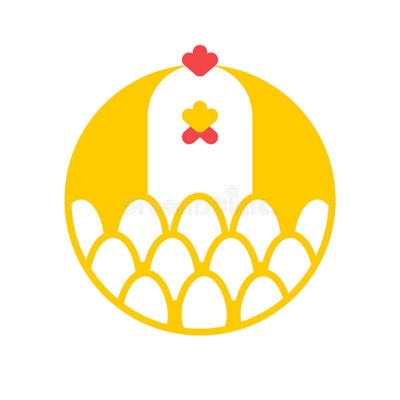 Free Chicken And Egg Logo For Eggs Production. Chicken Farm Emblem. Stock Image - 90574801