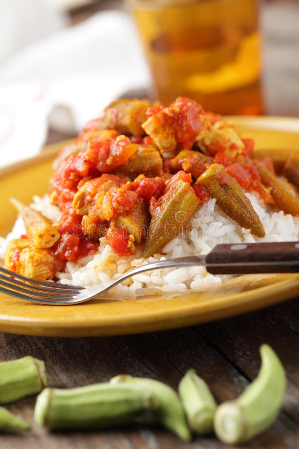 Free Chicken And Okra Ragout Stock Photography - 22068002