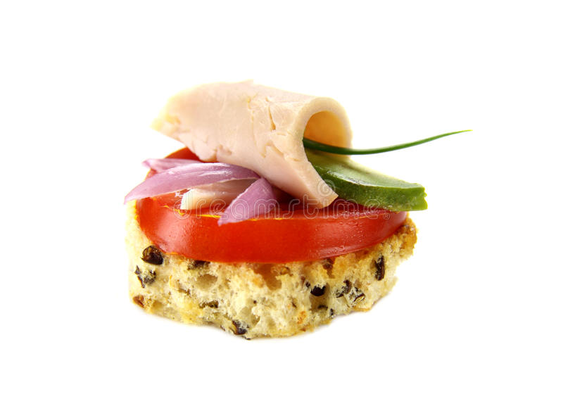 Download Chicken And Avocado Tidbit stock image. Image of gourmet - 13222987