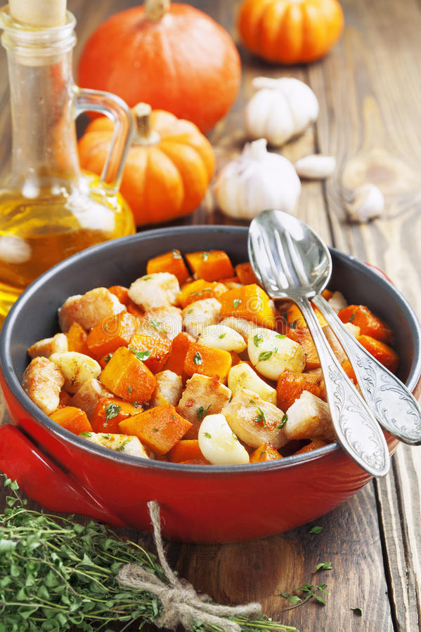 Download Chicken baked with pumpkin stock image. Image of fragrant - 37113249